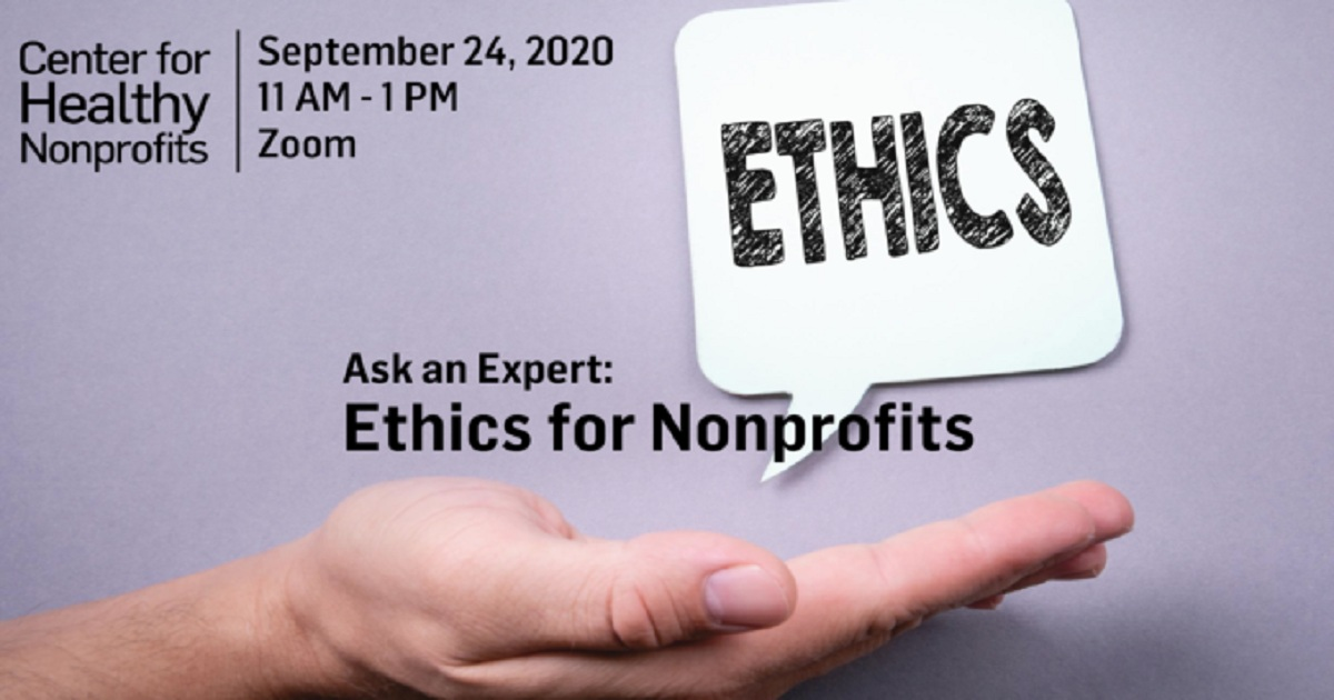 Ask an Expert: Ethics for Nonprofits
