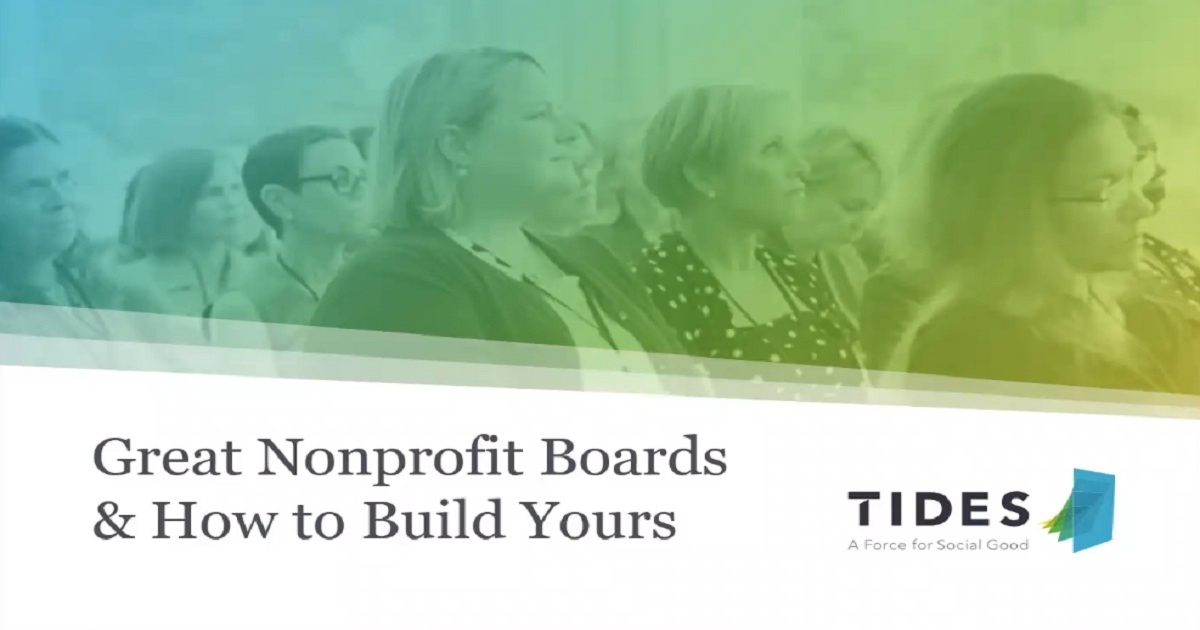 Great Nonprofit Boards and How to Build Yours