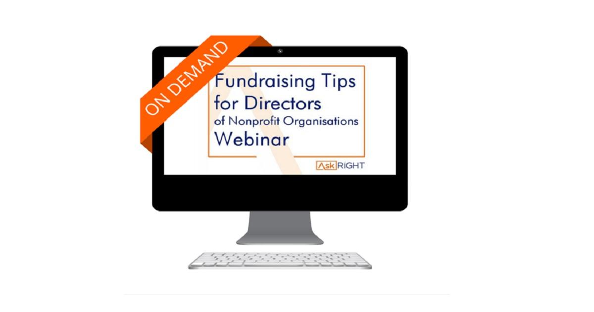 Fundraising Tips for Directors of Nonprofit Organisations Webinar