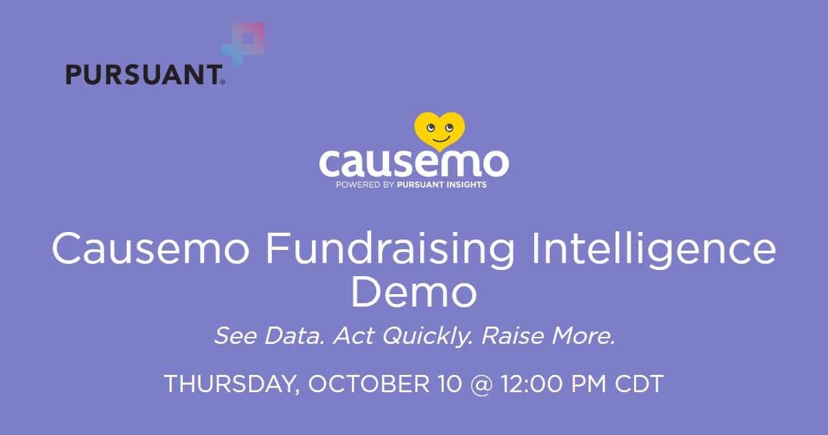 Causemo Fundraising Intelligence Demo