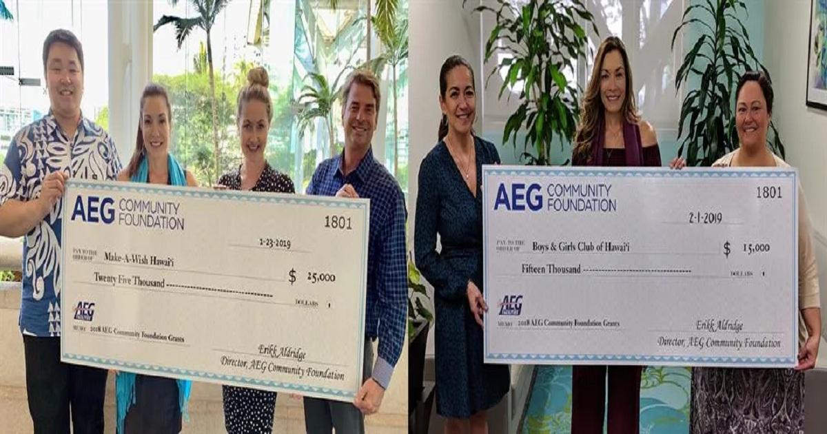 Two local nonprofits awarded $40K by AEG Community Foundation