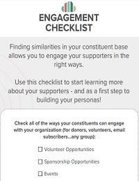 DONOR ENGAGEMENT CHECKLIST