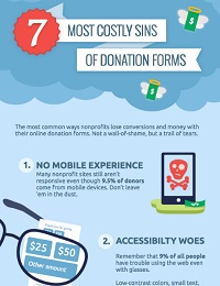 7 MOST COSTLY SINS OF DONATION FORMS